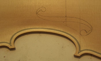 soundhole marked out