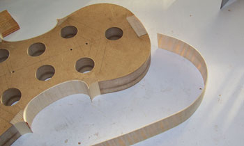 upper rib being bent to shape